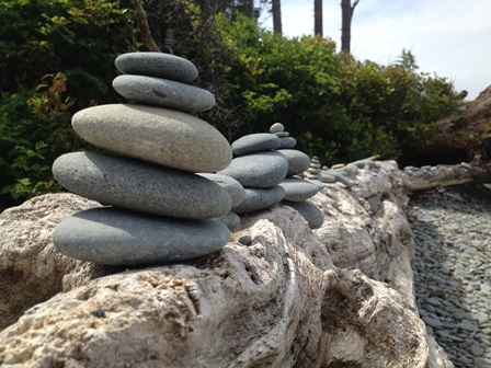 Stacking Beach Stones