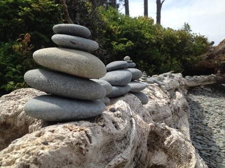 Stacking Beach Stones