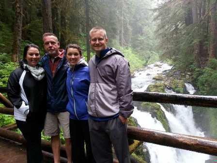 Family at Sol Duc Falls