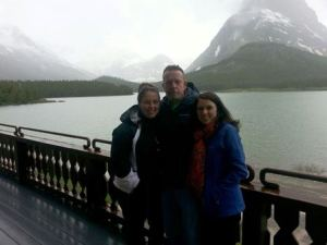 Amber, Dad & Bridgette Many Glacier Hotel